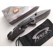 MILSPEC Stonewash Stainless Steel Pocket Knife EDC All Metal Flipper 1065 Surgical Steel