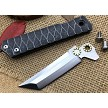 Samurai Katana Style Folding Knife Minimalist Water Ripple Handle D2 Steel FrameLock Bearings Tip-Up Carry Pocket Clip EDC