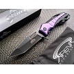 Purple Handle Spring Assisted Rescue Glass Breaker Pocket Knife