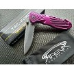 Womens Pink Spring Assisted Rescue Pocket Knife with Glass Breaker and Cord Cutter