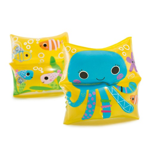 1 Pair Octopus Sea Fish Swim Arm Bands Dual Chambers  3-6 Yrs Swimmies Swimming