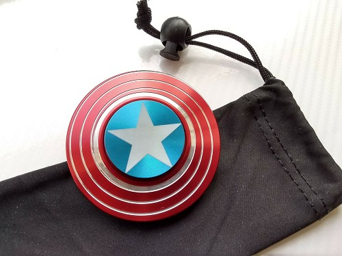 Captain America Shield Avengers Fidget Hand Spinner EDC Focus For Kids ADHD Autism Toy