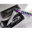 Wartech Slim Design Rainbow Ti Tanto Pocket Knife Spring Assist FrameLock Flipper Reversible Pocket Clip