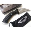 Star Trek Klingon Style Karambit Pocket Knife Talon EDC Blade Tip-Up Carry Red