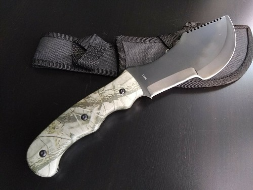The Hunted Movie Replica Tom Brown Tracker T-3 Huntsman Camo Design Fixed Blade Knife