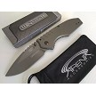 Wartech Gunmetal Gray Spring Assisted Pocket Knife FrameLock Flipper Dual Thumb Stud EDC