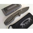 Wartech Gunmetal Gray Spring Assisted Pocket Knife FrameLock Flipper Dual Thumb Stud
