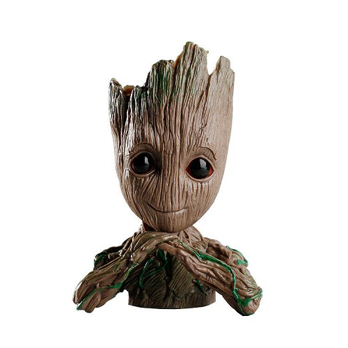 Baby Groot Hands Under Chin- Guardians of The Galaxy Pen Holder or Flower Pot Collectible
