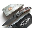 Milspec Gentlemans Brown Wood Handle Gray Ti Manual Open Pocket Knife Flipper EDC