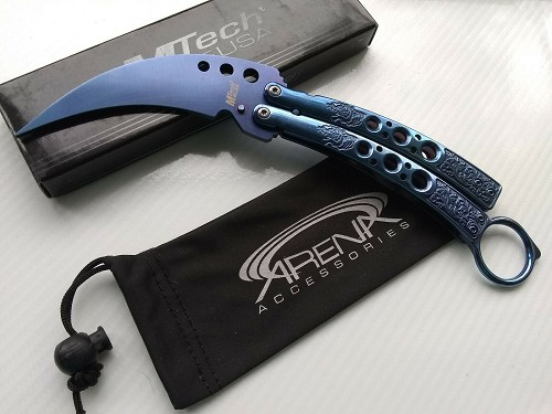 MTech Karambit Dull Balisong Trainer Butterfly Practice Training Unsharp PB Washers