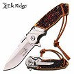 Elk Ridge Simulated Bone Spring Assisted Open Gentleman's Pocket Knife EDC Flipper Blade
