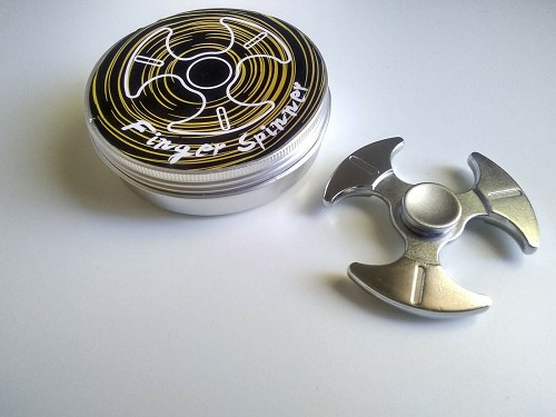 All Metal Silver Fidget Spinner Toy for Boys Girls Adults Kids ADHD EDC