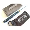 Wartech Ball Bearing Pivot Manual Pocket Knife Liner Lock EDC Mirrored Chrome Blue Ti Coated