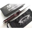 MTech Black Manual Open Button Lock Ball Bearing Pivot Pocket Knife EDC Red Accents