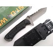 Hunt-Down Horizontal Concealed Carry 5 mm Thick Fixed Blade Knife with Kydex Holster Sheath