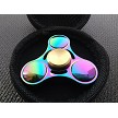 Rainbow Mirrored Metal Fidget Hand Spinner Toys Kids Adults Boys Girls ADHD EDC