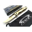 Tac-Force Small Lightweight Spring Assisted Pocket Knife Gold Titanium Coated Blade EDC