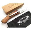 "Elk Ridge Small 6.75"" Inch Two Toned Wood Handle Manual Open Pocket Knife Blade EDC Deep Carry Clip"
