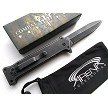 Combat Ready Knives JOKER Movie Replica Manual Open Pocket Knife Batman Dark Knight Stiletto Flipper EDC Stonewashed Tip Up Carry