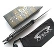 Combat Ready Knives JOKER Movie Replica Manual Open Pocket Knife Batman Dark Knight Stiletto Flipper EDC Stonewashed