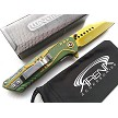Wartech Green & Gold Legend of Zelda Wharncliffe Reverse Tanto Spring Assisted Pocket Knife EDC