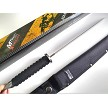 "MTech Xtreme Full-Tang Bowie Fixed Blade Knife 4.5 mm Thick Blade Rubber Handle w/ Sheath 16.5"" Inches Overall"