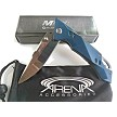 MTech Manual Flipper Pocket Knife with Smooth Pivot Bearings Mirror Finish Blade Blue EDC