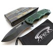 Forest Green Spring Assisted Pocket Knife Lightweight EDC Flipper Wood Handle