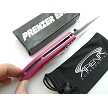 Pink Magenta Waves Spring Assisted Pocket Knife Lightweight EDC Flipper Womens Girl