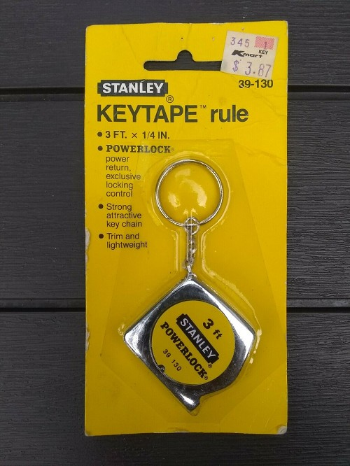 NEW 1982 Vintage STANLEY KeyTape 39-130 3 ft 1/4 Inch PowerLock Tape Rule RARE