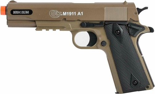 Brown Colt M1911-A1 Best All Metal Slide Spring Airsoft Pistol Gun 345 FPS BAX BB 1911 Tan