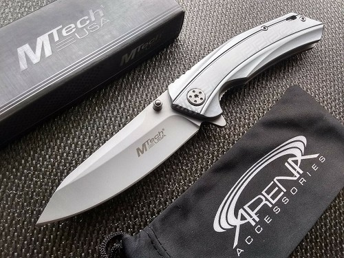 Wharncliffe Blade Manual Open Pocket Knife Flipper 440 Reverse Tanto 4.3 oz EDC