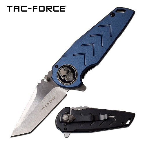 Ball Bearing Pivot Tanto Framelock Flipper Knife Deep Carry Pocket Clip Bane Blue EDC